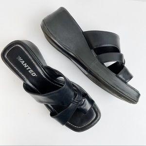 Vintage 90s Chunky Platform Square Toe Sandals